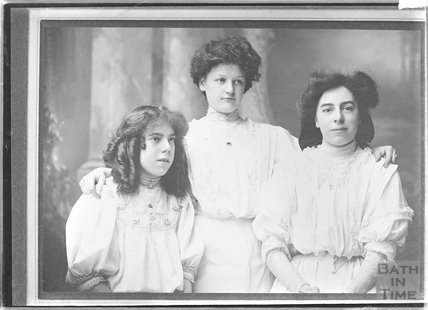 Copy of a portrait of three unidentified women, c.1900