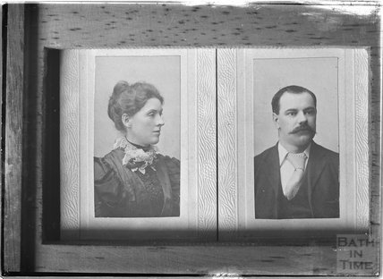 Copy of a portrait of a man and probably his wife c.1900s