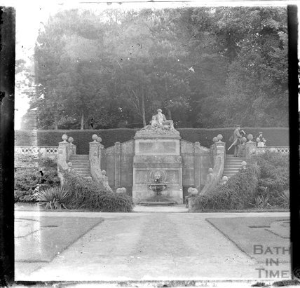 Unidentified garden steps, possibly Bowood House, Wiltshire c.1890s