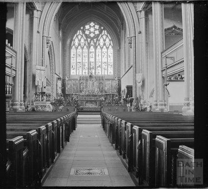 Inside St Mary's, Bathwick, c.1890s