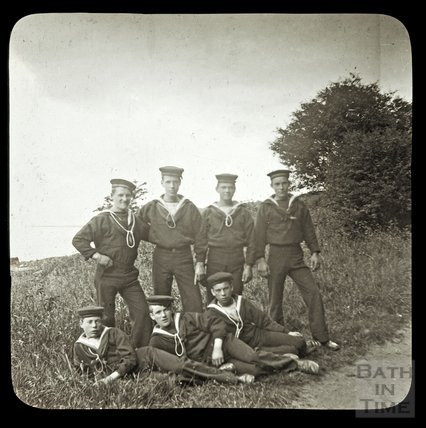 A group of sea cadets, c.1890s