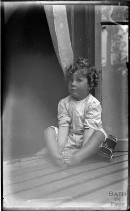 One of the photographer's twins at his house at 32 Sydney Buildings 1914