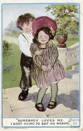 A romantic greetings card sent to Violet, the photographer's  fiancee, 1909