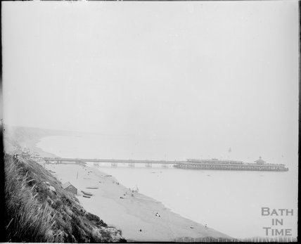Bournemouth Pier and seaside view c.1890s