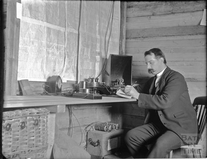A field telegraph operator, c.1890s