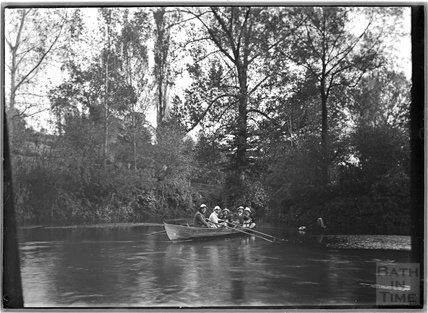 The photographer's pals boating on the river, c.1900s