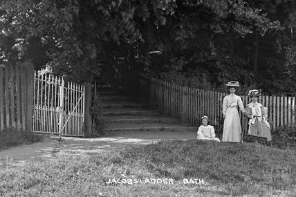 A group of ladies beside Jacob's Ladder c.1910 - detail