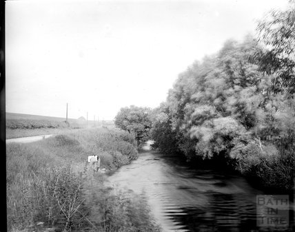 Unidentified river or canal view c.1890s