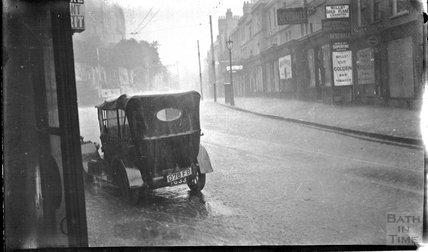 Heavy rain in Walcot Street, c.1930s
