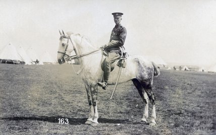 A military man on a horse c.1910