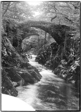 Pont Rhyd-y-Gynnen in North Wales, c.1920s