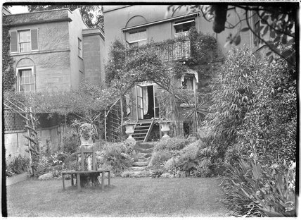 Back garden of 51 Sydney Buildings, Bath c.1900s?
