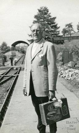 Standing on the platform of Monkton Combe Station , June / July 1952