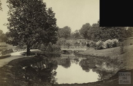 The Lake at Royal Victoria Park, Bath c.1897