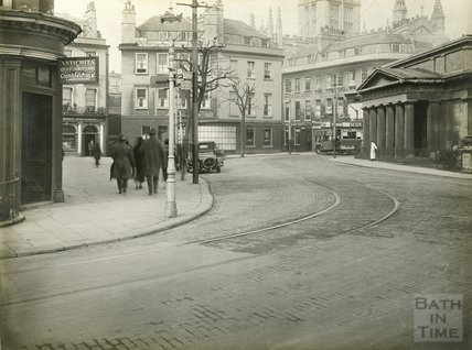 Terrace Walk, looking towards York Street, Bath c.1930s