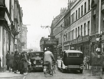 A busy street scene at Cheap Street c.1930