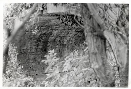 Somersetshire Coal Canal, Canal bridge near Midford South Side - masonry of arch November 16th 1968