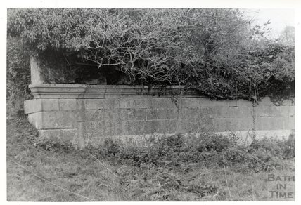 Somersetshire Coal Canal, Midford aqueduct West Side Parapet of aqueduct on North side of stream  November 16th 1968