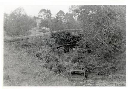 Somersetshire Coal Canal, accommodation bridge near Midford, 16 November 1968
