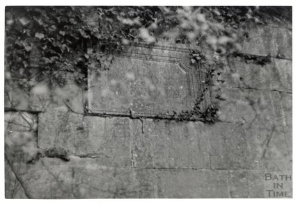 Somersetshire Coal Canal, Midford aqueduct East Side, plaque in centre of main arch  November 16th 1968