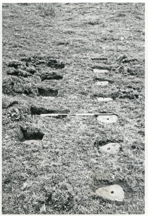 Somersetshire Coal Canal, stone sleeper blocks at Welton, Radstock c.1969