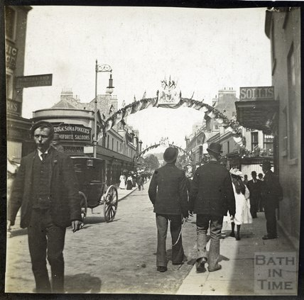 Celebrations of Diamond Jubilee 1897, Bridge Street towards Pulteney bridge