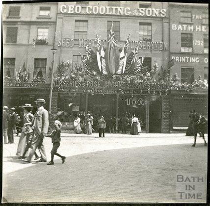 Celebrations of Diamond Jubilee, 1897, 10-12 Northgate Street, Bath