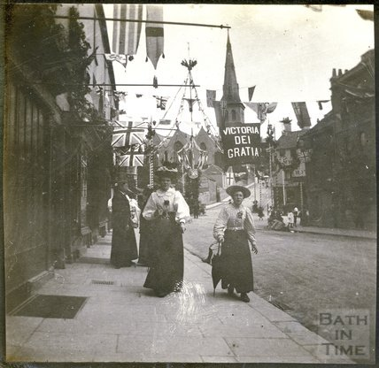 Bottom of Widcombe Hill Diamond Jubilee Celebrations 1897