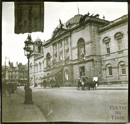 Guildhall from High Street at Time of Diamond Jubilee celebrations 1897