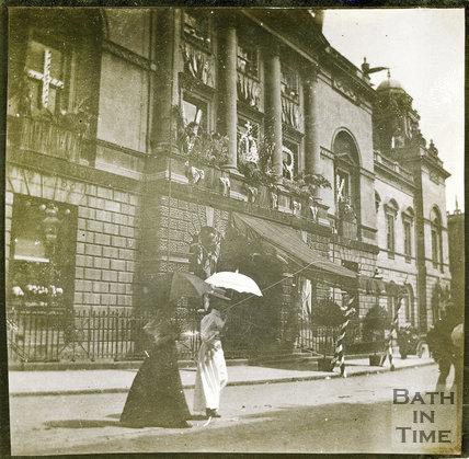 Guildhall, Bath from High Street at Time of Diamond Jubilee celebrations 1897