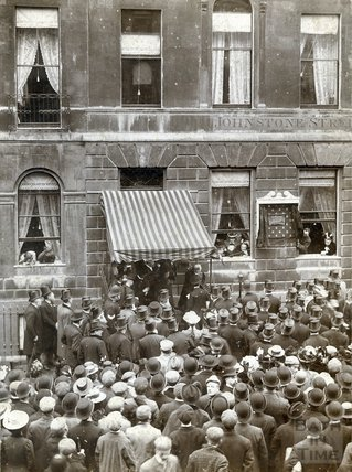 Lord Roseberry Unveiling Tablet to Rt. Hon. William Pitt Number 15 Johnstone Street, October 27th 1899