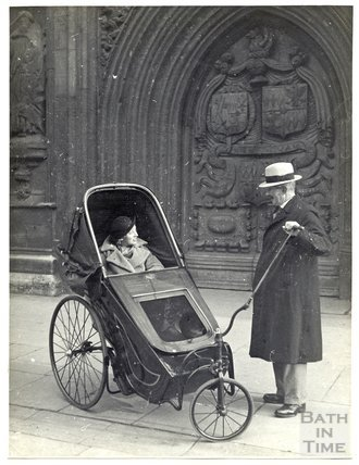 Bath Chair, Abbey West Door November 24th 1935