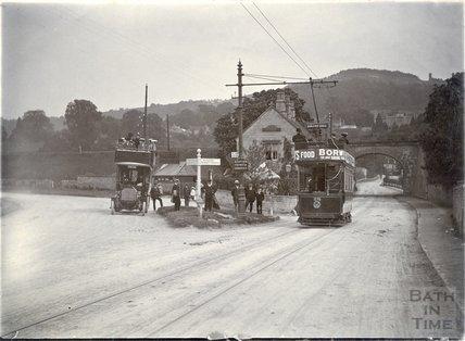 Trams near Bathford, c.1920s