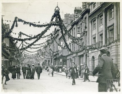 George V Coronation Celebrations on Milsom Street, 1910