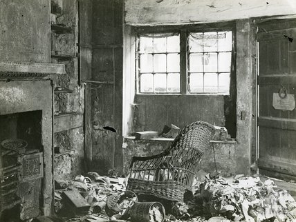 Slum Interiors, Kitchen, Parsons Lane, c.1950s?