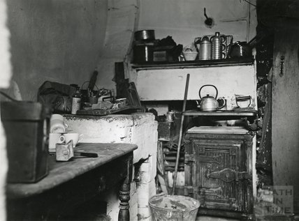 Slum Interiors. Weymouth Square, Snow Hill, Cooking & Washing facilities, c.1950s?