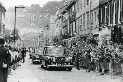 Queen Elizabeth II and Prince Philip's Silver Jubilee visit to Bath, 8th August 1977
