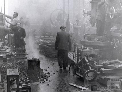 Inside the Newark Works of Stothert and Pitt, Lower Bristol Road, 1960