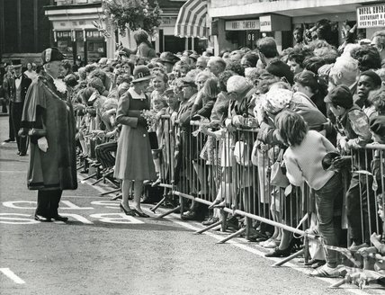 Queen Elizabeth II and Prince Philip's visit to Bath for Monarchy 1000, 1973