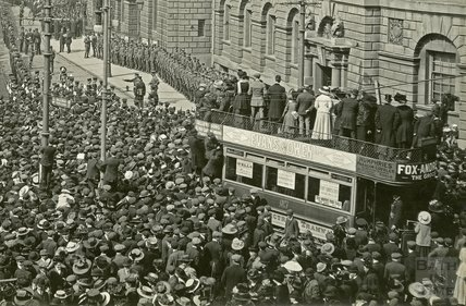 Proclamation of George V & Queen Mary 1910 - detail