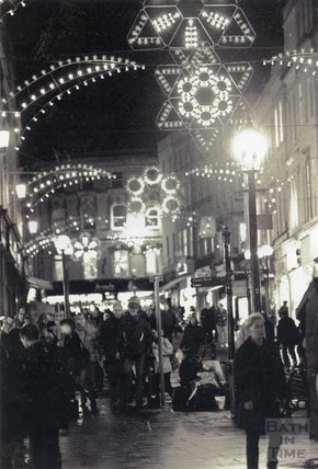 Christmas Lights in Stall Street, Bath, 1995
