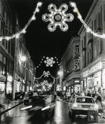 Christmas Lights in Stall Street, Bath, 1988