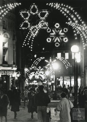 Christmas Lights in Union Street, Bath, 1989