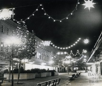 Christmas Lights in Southgate Street, Bath, 1976