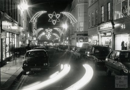 Christmas Lights in Stall Street, Bath c.1990s