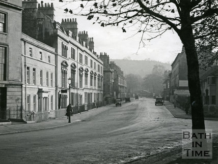 View up Bathwick Street from Rochfort Place, 1941