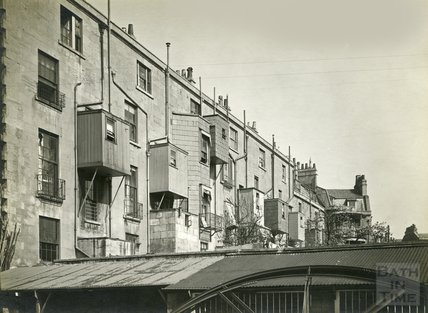 View of the rear of Bathwick Street, probably the southeast side, c.1930s