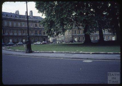 The Circus, Bath, looking towards Gay Street, 1965