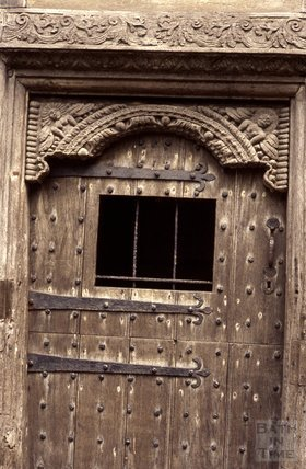 Ancient wooden door, Ludlow, 1972