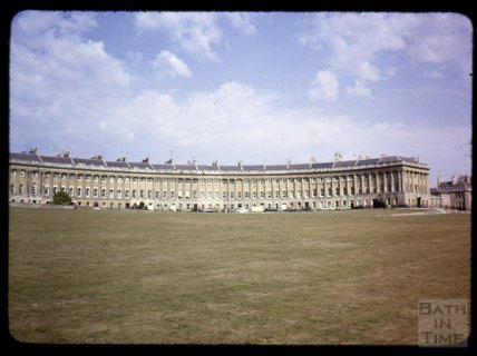 The Royal Crescent, Bath viewed from the park, c.1965